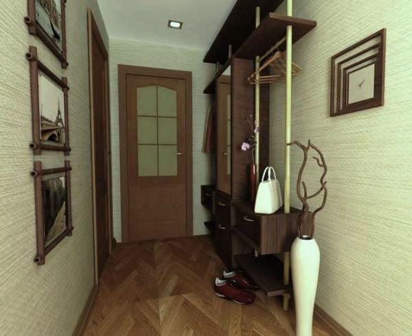 Ремонт узкого коридора в квартире фото фото